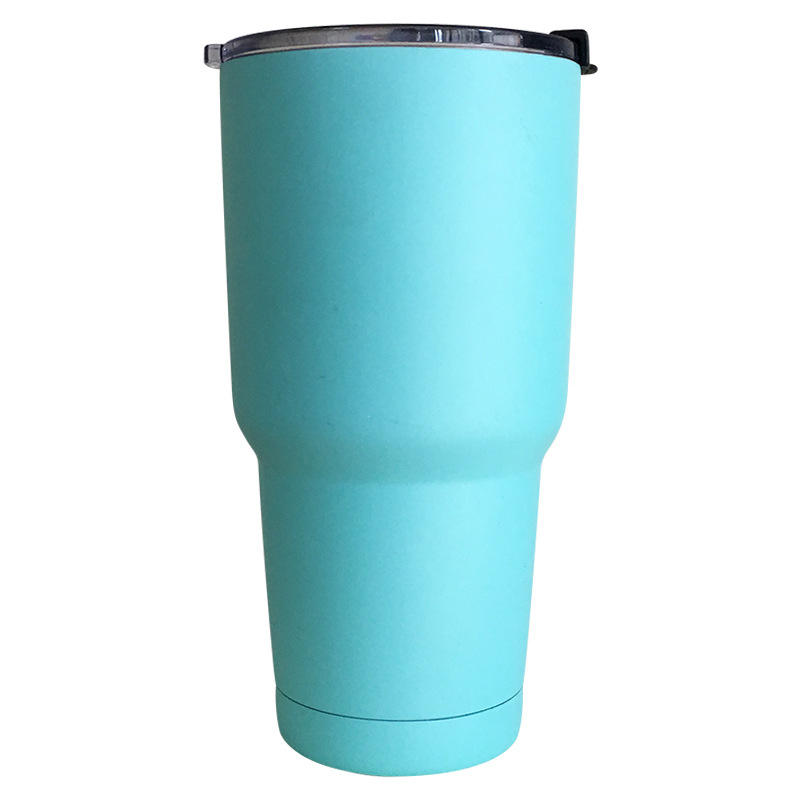 Household series Stainless Mug Car Cup 30oz Stainless Steel Vacuum Insulated Tumbler With Push Lid