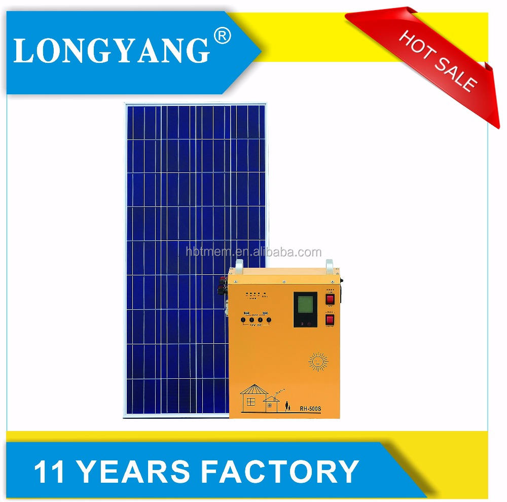 Portable 500W off grid pure sine wave solar energy system use for home