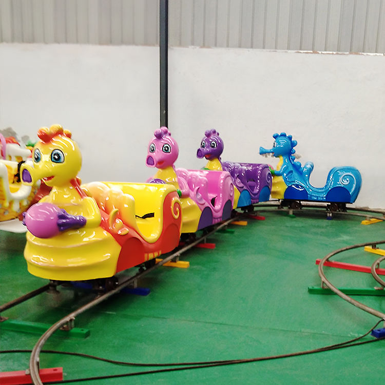 Modern outdoor playground mini track electric motor train