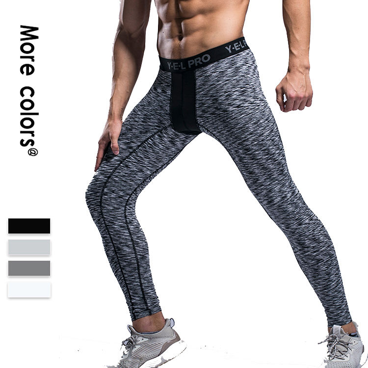 Custom Print-Design Leere Mann Junge Jugend Schwarz Yoga Compression Lange Tights Lauf Leggings Hosen Gym Compression Sportswear
