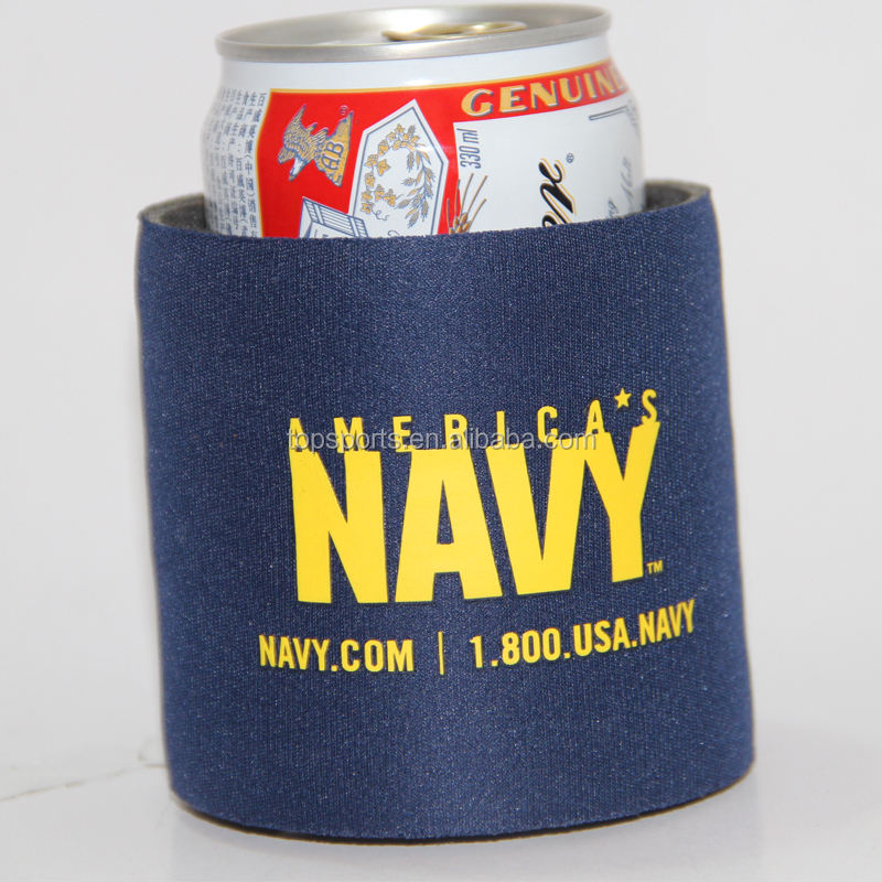 Top quality neoprene material thick insulation spring can cooler for beer cans