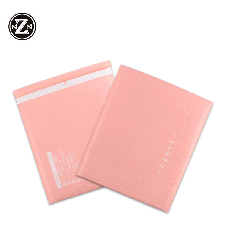 customized personality logo design 6x10 self seal adhesive pink poly bubble mailers envelopes padded package