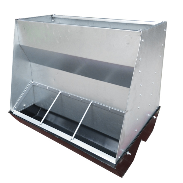 Steel double side pig feeder system pig feeding tough for farrowing crate sow automatic feeder