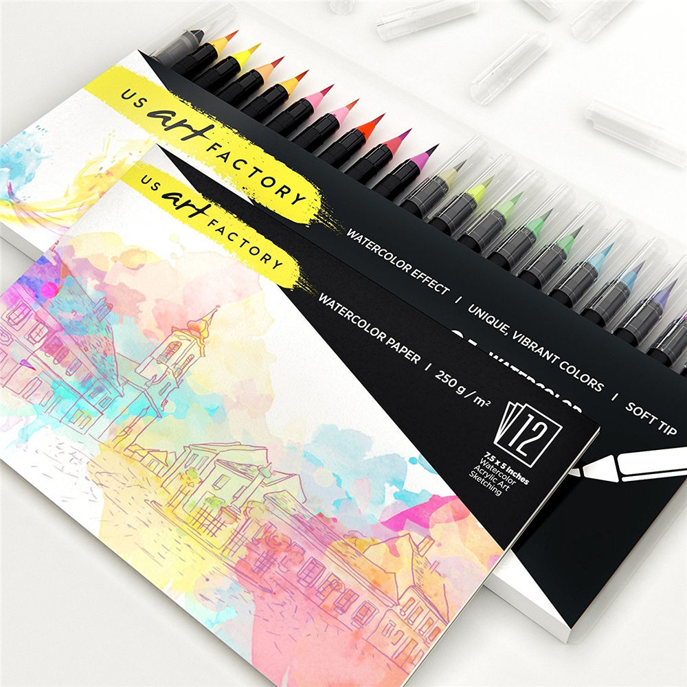 Hot Sale Fashion Watercolor Brush Pen Colorful Paint Marker Pens Water Based Drawing Marker Brushes for Art