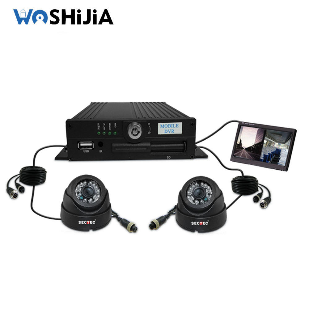 H.264 diy vehicle ahd camera Support sd card gprs 3G wifi 4ch mdvr