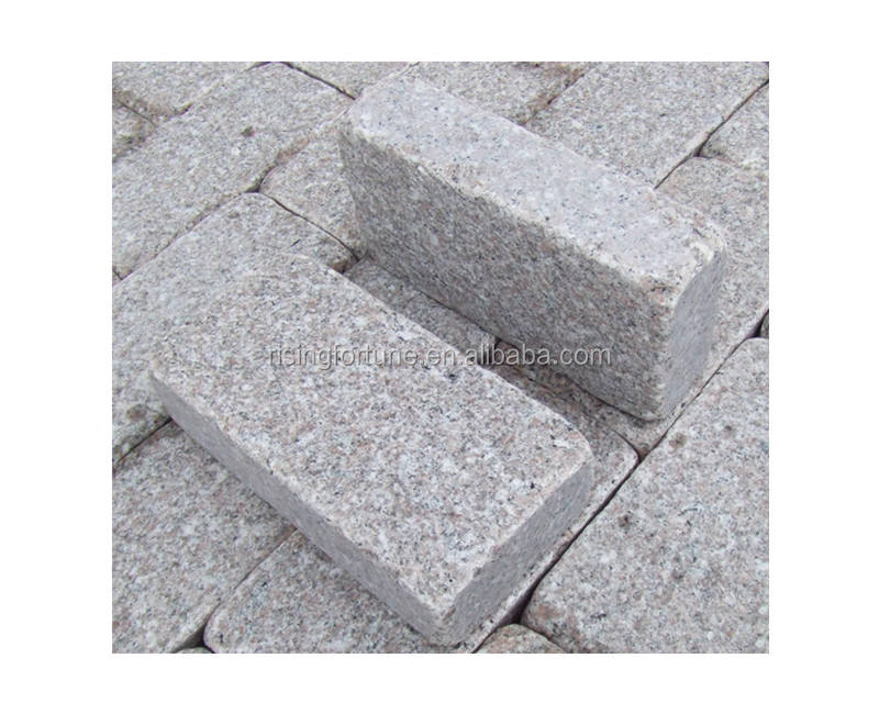 Granite landscaping cube stone