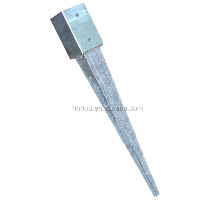 China supplier sale hot dip electro galvanized high strength pointed pole anchor