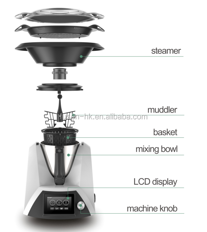 Multifunction food processor and high speed blender with wi-fi function