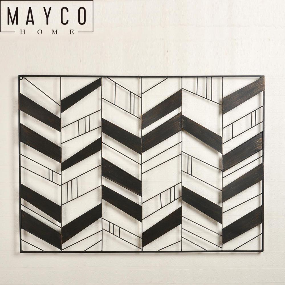 Mayco hogar contemporáneo Vintage música forma decoración del arte de pared de Metal
