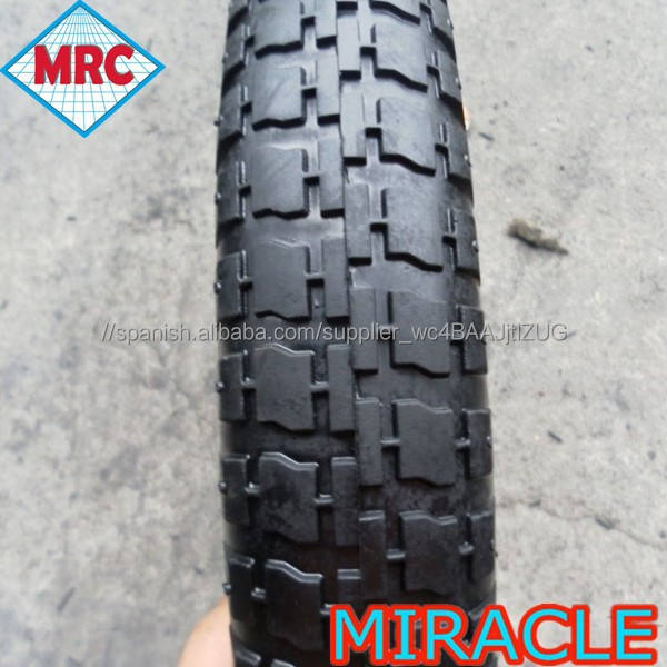 Fabricación de china 3.25-8 carretilla caucho del neumático de la rueda de aire