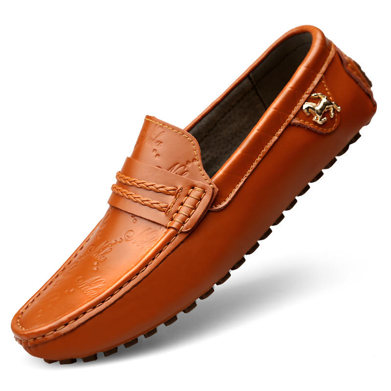 Latest Design loafers shoes for men slip on Leather Mocassin 2019 shoes for men