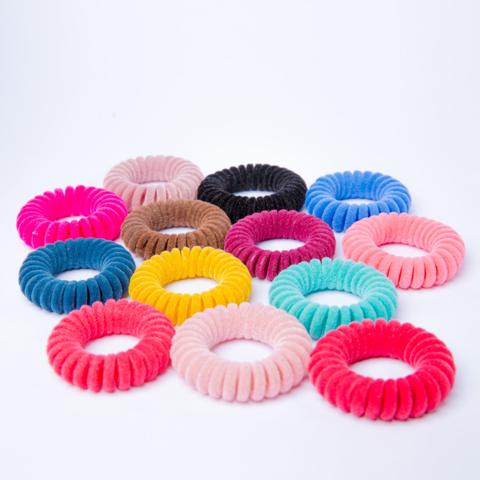 Festival gift 5.5cm BONEYA soft TPU Telephone Wire Coil Gum Elastic Hair Band Girls Hair Tie Rubber Ponytail Holder Bracelet