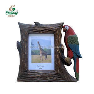 custom design rustic vintage animal shaped pinewood wooden picture frames for home decor
