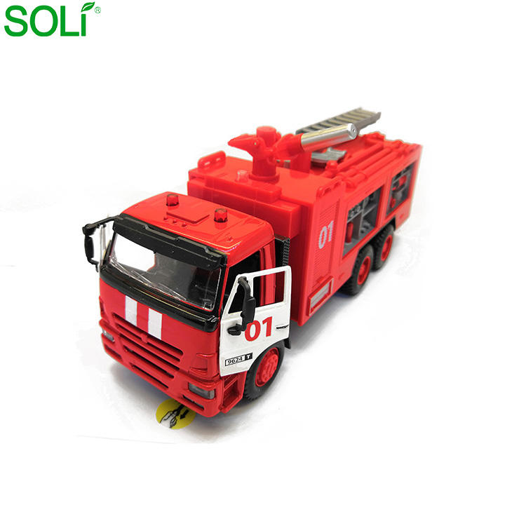 Abs Alloy 1: 38 Sound Light Plastic Toys Model Diecast Fire Truck Models