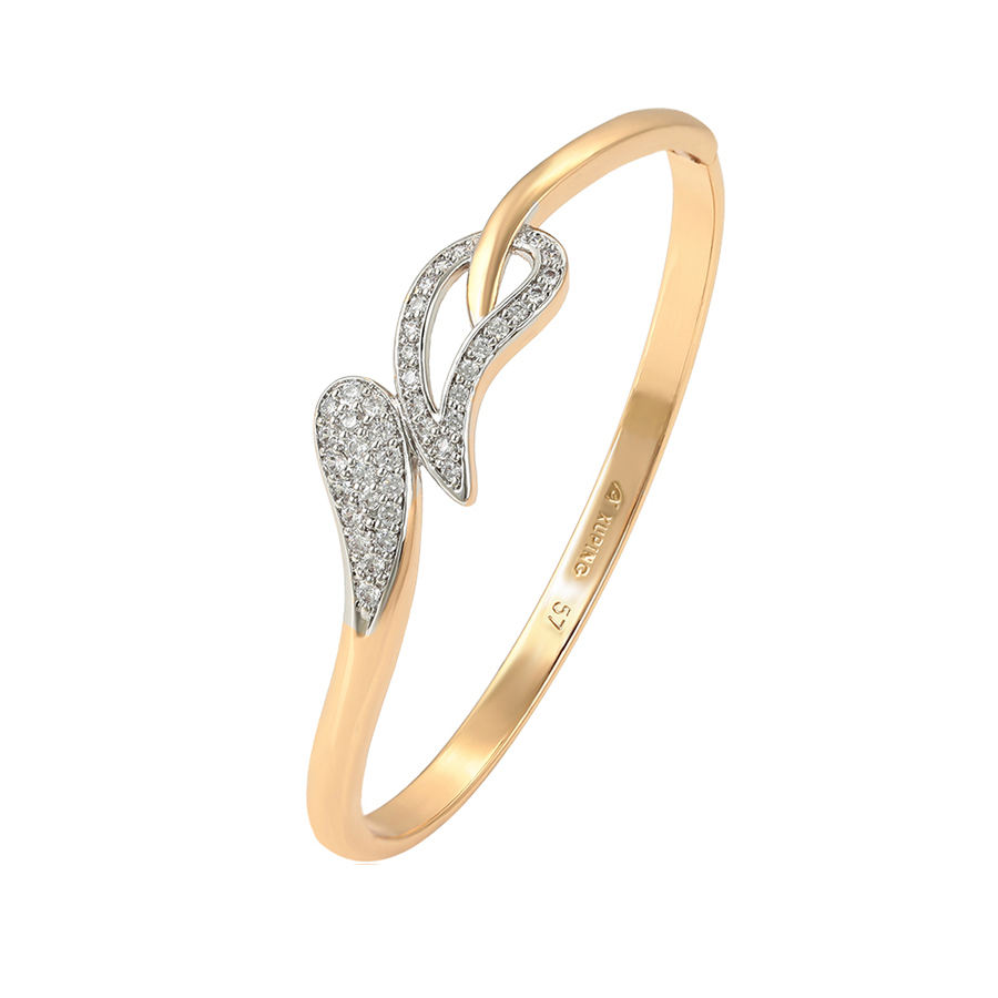 52421 xuping 2019 new type 18 k gold plated ready to ship bangle for women