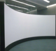 curved projection screen customized radian 180 to 360 degree
