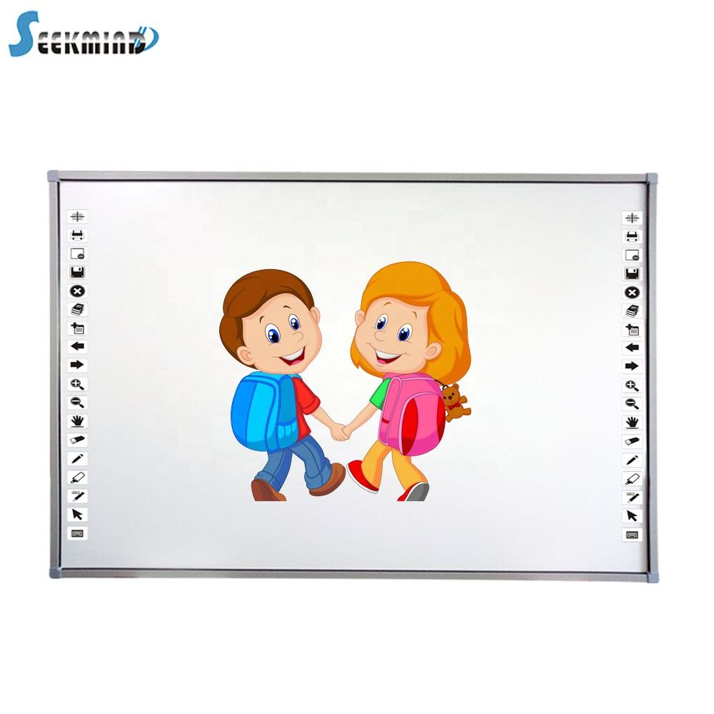 IR multi touch interactive digital board with marker pen for school