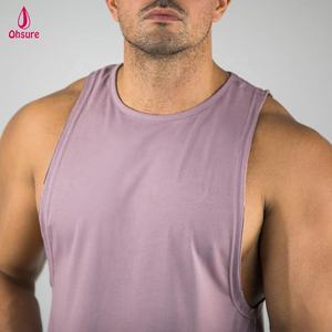 95% cotton 5% spandex mens cutoff tee bodybuilding tank muscle top custom gym tank