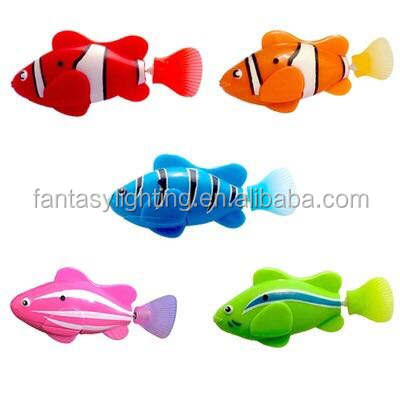 LED Luminous Fish Robots Swimming Fish for Aquarium Decoration Bath Fun Fish Toy for Toddlers