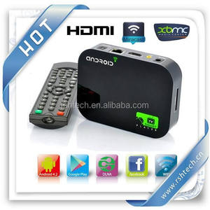 A20 Smart media player preinstalado XBMC Vidonm Android smart media player DTS y 3D y BD, ISO, Android 4,2 OTT caja de TV