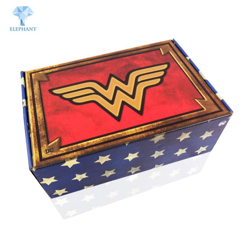 Custom logo recycled matt lamination B flute corrugated paper helmet packaging box