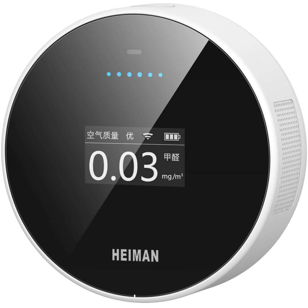 HEIMAN new start smart WIFI multifunktions <span class=keywords><strong>formaldehyd</strong></span>, PM10. PM2.5, Temperatur, luftfeuchte monitor mit LCD bildschirm