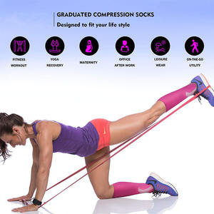 Promotion 20-30 mmhg Nurse Compression Socks Medical for Running Shin Splints Flight Travel