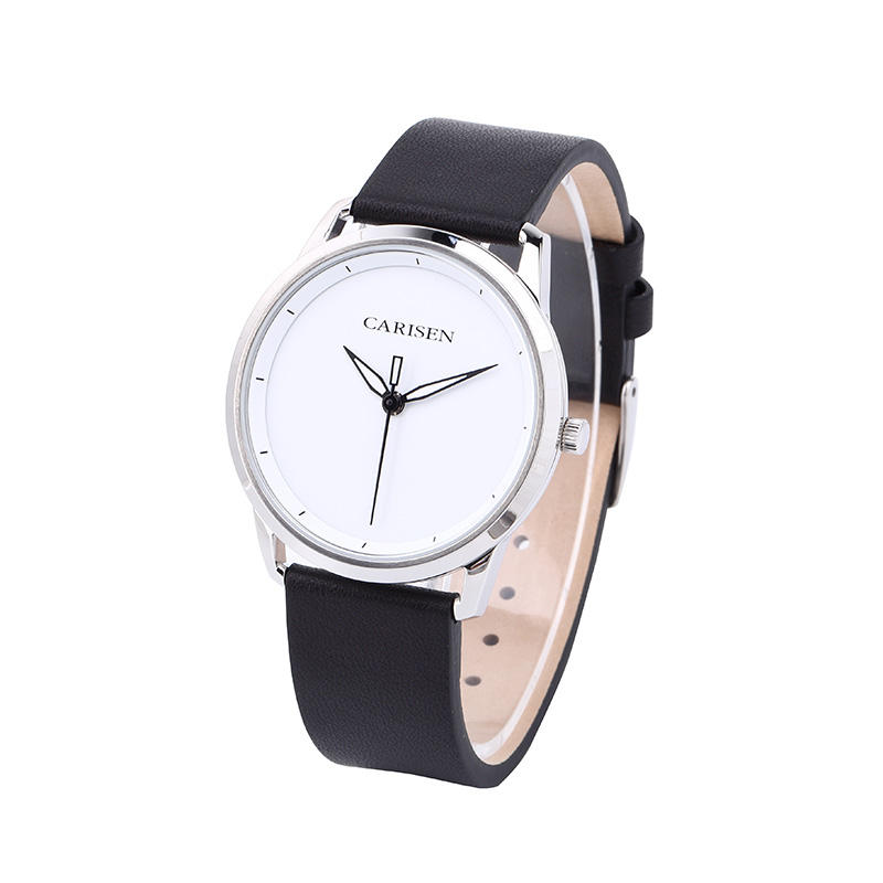 New arrival wristwatches sport military stainless steel back leather band watch for men quartz