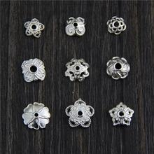 New Arrivals 925 Sterling Silver Flower Loose Spacer Bead Caps Bead Spacers DIY Jewelry Findings Accessories