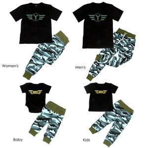 family clothes set mother father baby clothes family Camouflage outfits cotton short sleeve family clothing set