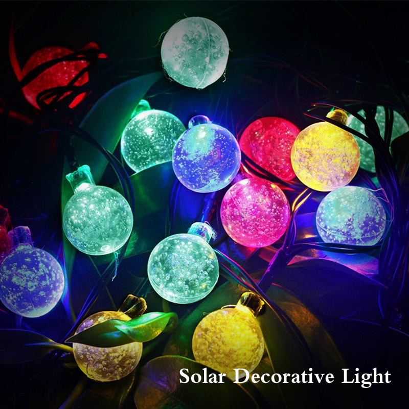 Outdoor Christmas Solar String Lights 21ft 10 LED Fairy Flower Blossom Decorative Light for Indoor Garden Patio Party Xmas Tree
