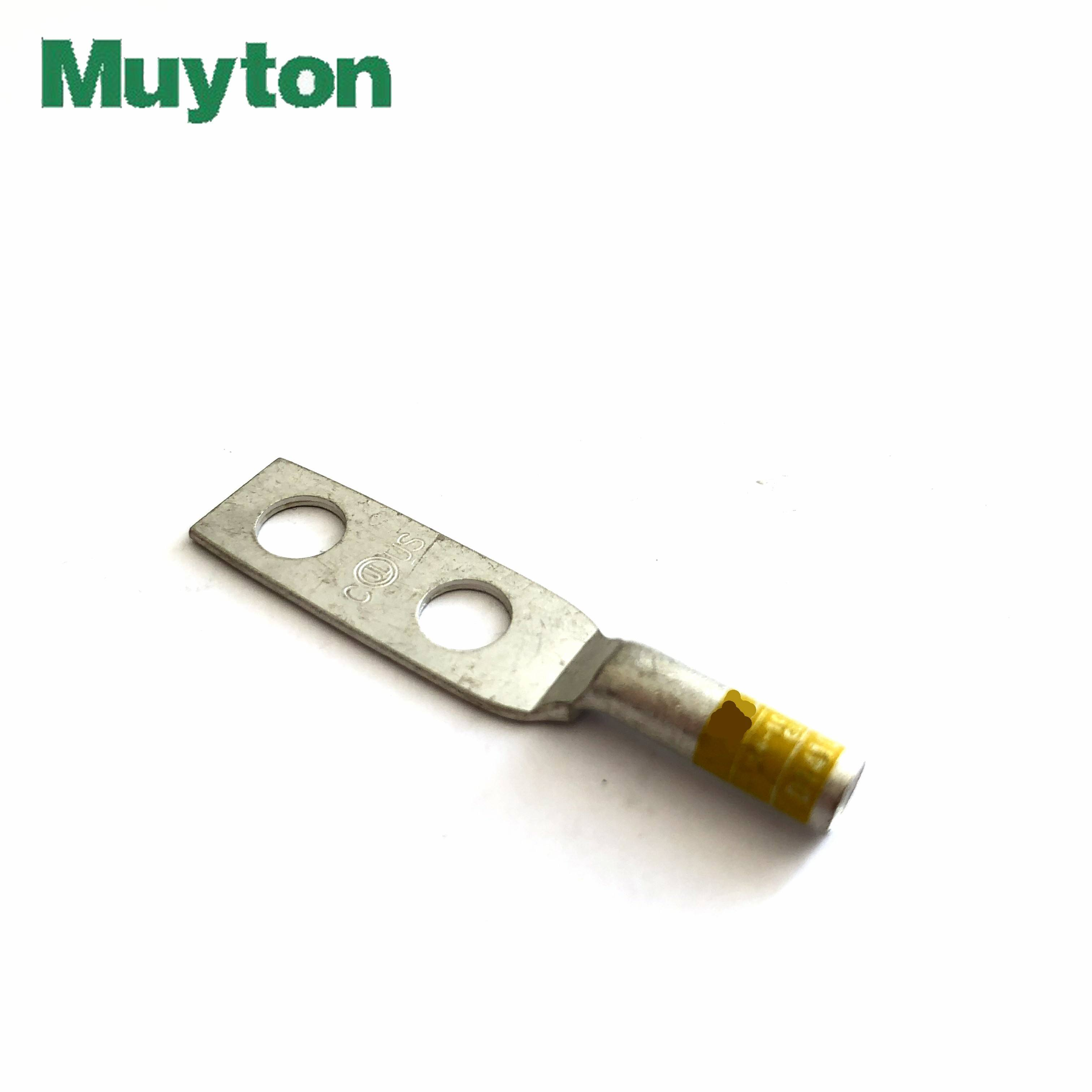 14 AWG yellow cable copper compression connect lug