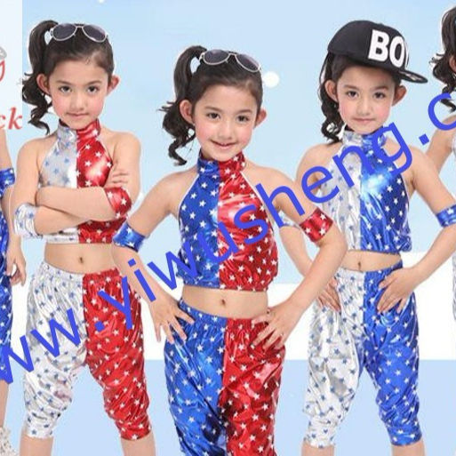 Children's jazz dance, street dance the five-star paint a new performance clothes
