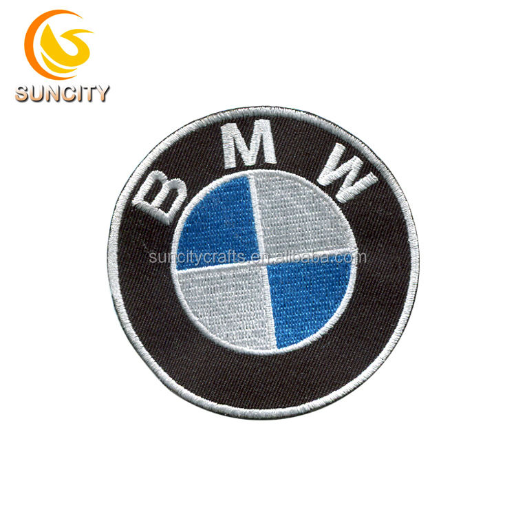 Free Sample Custom Logo Car Patch Name Brand Embroidery Patch With Iron On Backing