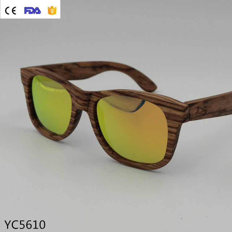 High quality CE & CE new style wood&bamboo sunglasses polarized lenses with available custom logo