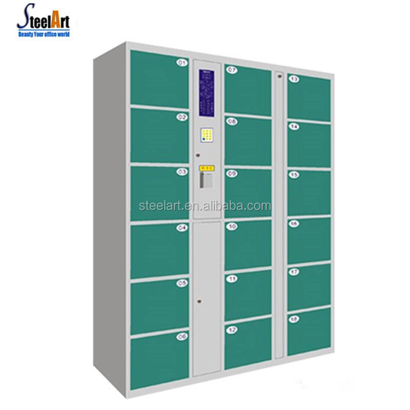High quality yellow color intelligent parcel delivery locker/steel locker