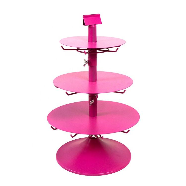 counter rotating accessories hair color display rack for retail