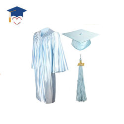 Hotsell Unisex Sky Blue  Graduation Gown And Caps