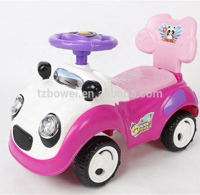 Hot sale panda design cute baby with light and music ride on car