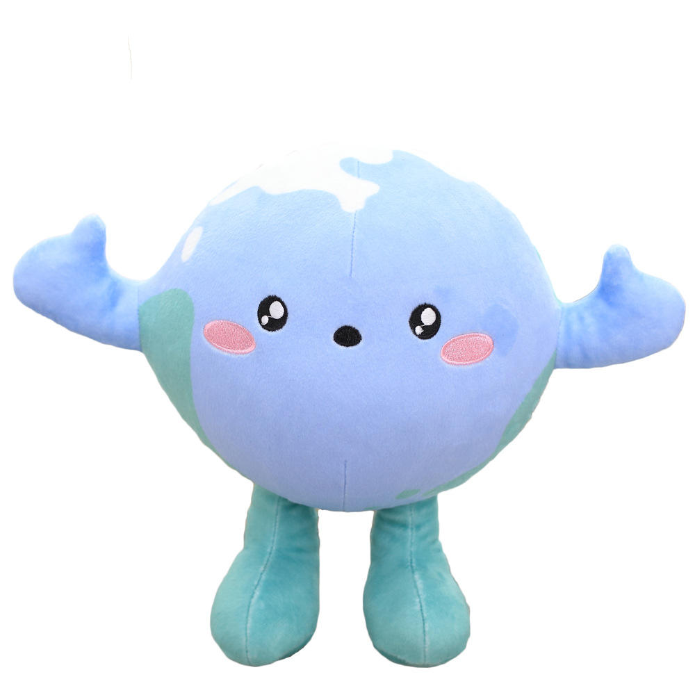Wholesale Custom Educational Stuffed Toy Love the Earth Topic Cute Plush Globe Doll