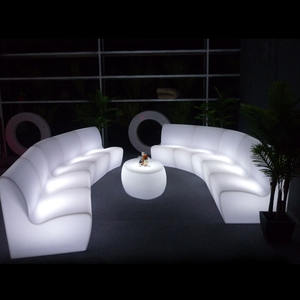 LED RGB rechargeable Bar Furniture Sets multicolor indoor living room sofa