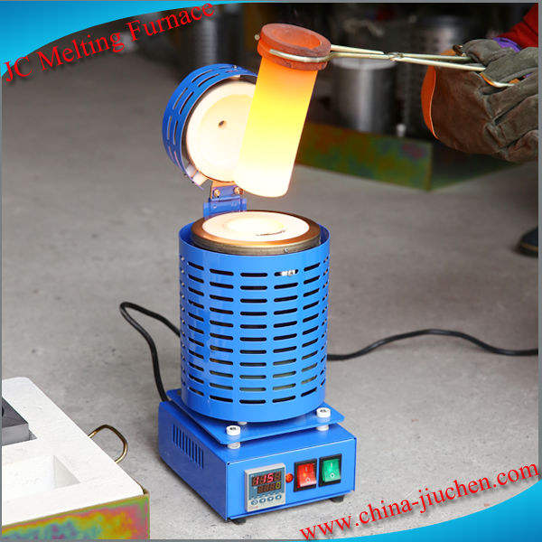 JC Portable Small Mini Electrical Gold Melting Furnace 1kg 2kg 3kg 4kg 5kg with Graphite Crucible for Sale