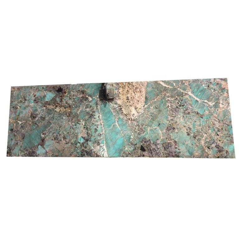 Polished surface natural stone green quartzite slab for kitchen countertop