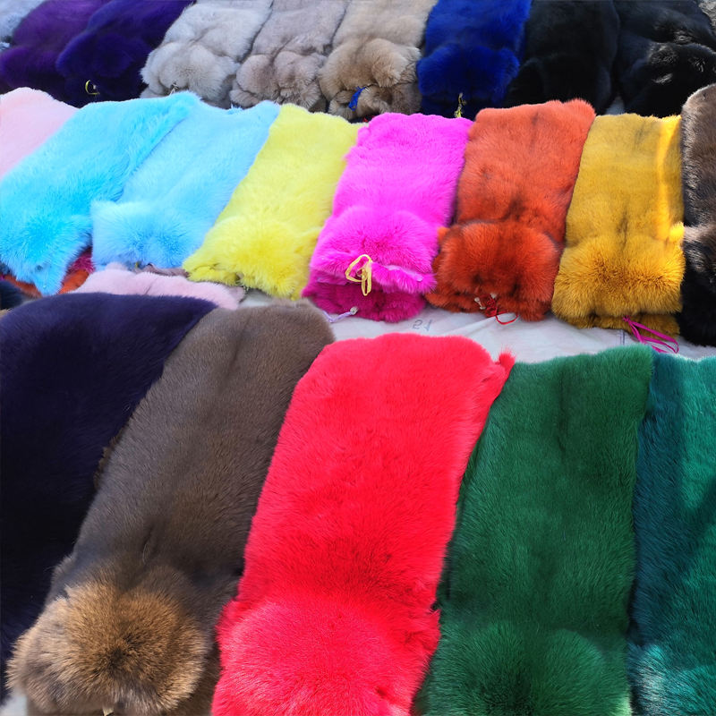 Wholesale price custom color Dyed fox fur pelt
