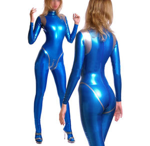 Black blue red yellow handmade custom latex women catsuit rubber costume