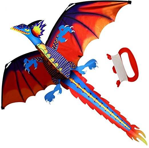HengDa Hot sell 3D dragon kite for kids with flying line
