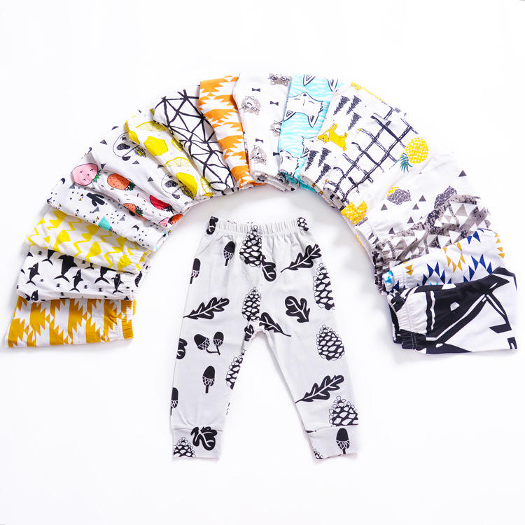 custom baby jogger pants 100% cotton knitted infant baby jogger pants OEM