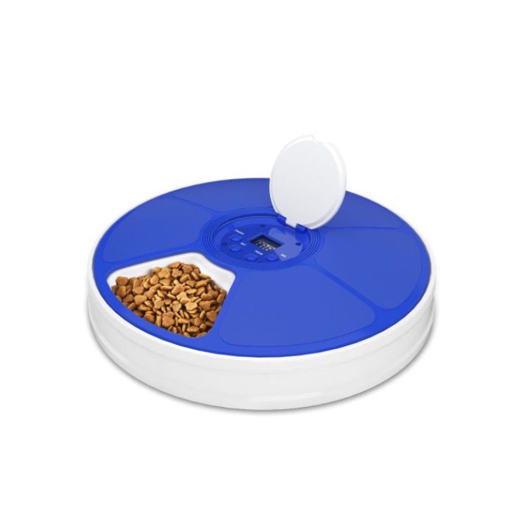 New battery operated 6 separate timed automatic smart pet timed feeder