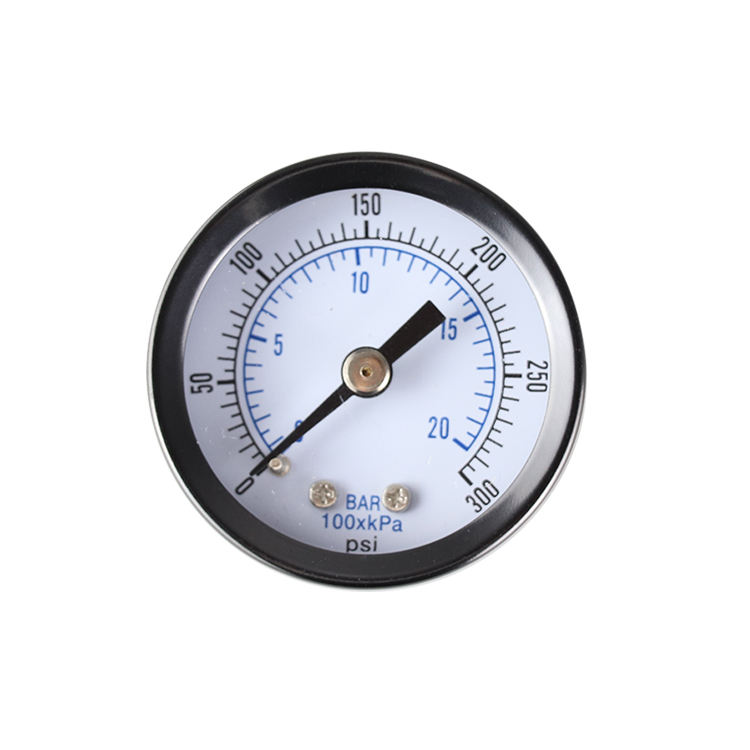 China Factory Supplied Top Quality Pressure Gauge 0-20bar 0-300psi 1/8bspt Axial Pressure Gauge
