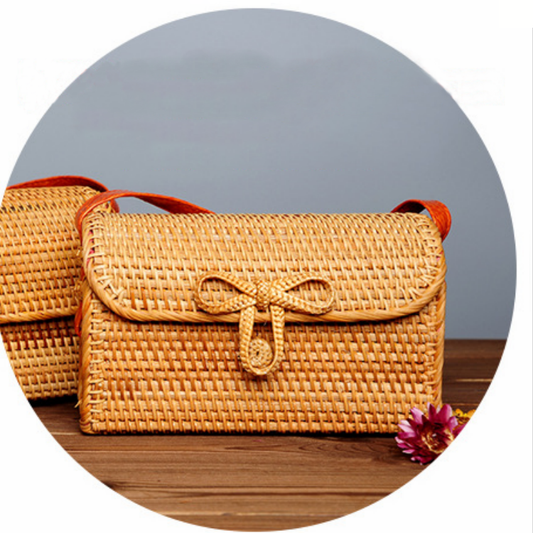 New design bamboo fibre bamboo straw rattan bag